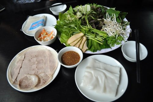 bquán bánh tráng cuốn thịt heo Đà Nẵng