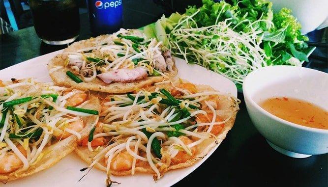 bánh xèo tôm nhảy Đà Nẵng