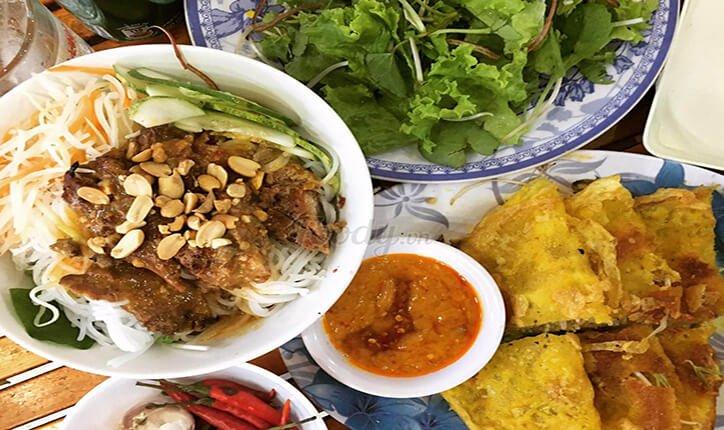 bún thịt nướng bà Trai Đà Nẵng