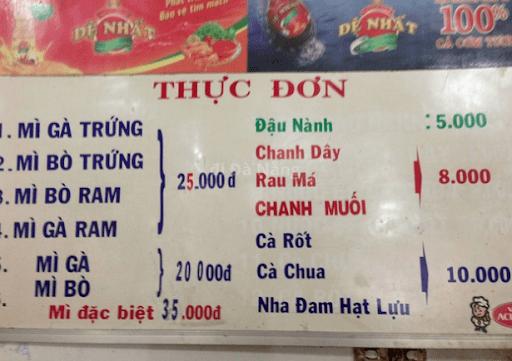 mì quảng Bích Đà Nẵng