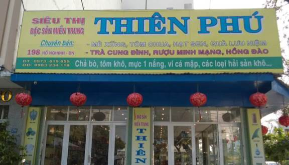 siêu thị đặc sản Thiên Phú Đà Nẵng