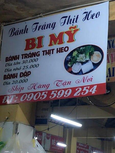 bánh tráng cuốn thịt heo chợ Cồn Đà Nẵng