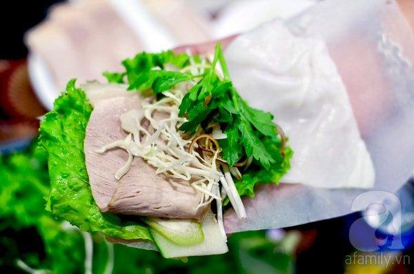 bánh tráng cuốn thịt heo Mậu Đà Nẵng