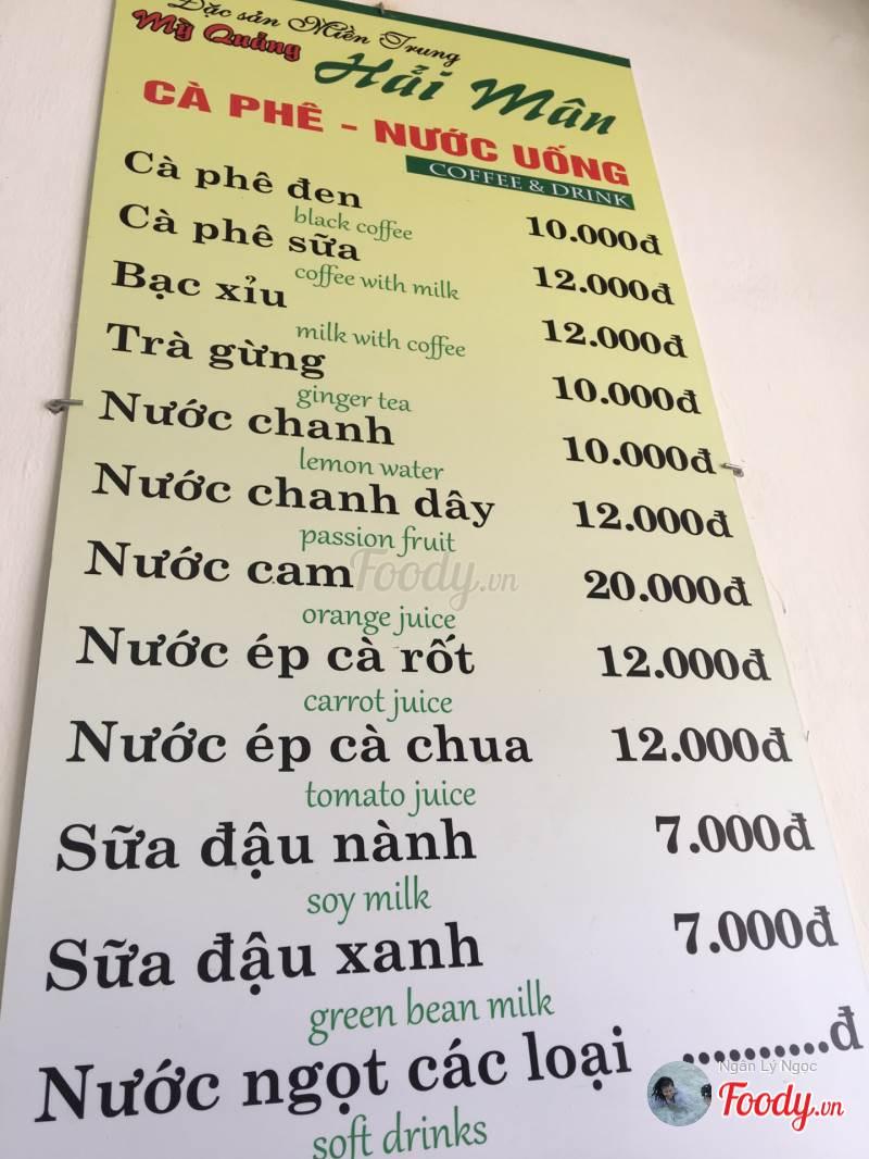 mì quảng Hải Mân Đà Nẵng