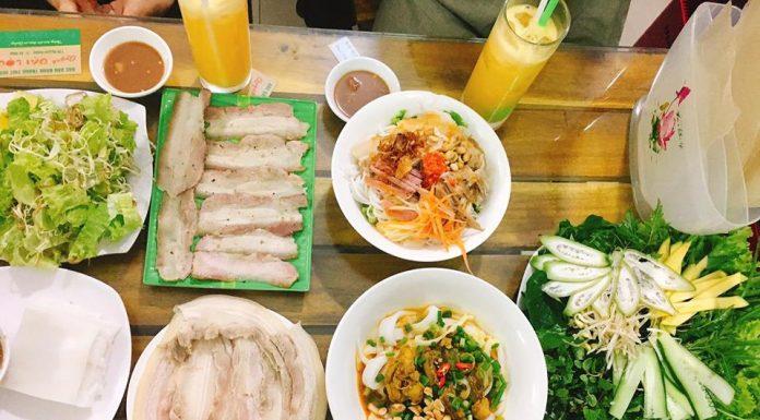 quán bánh tráng cuốn thịt heo Đà Nẵng